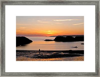 Sun And Surf Framed Print by Gary Finnigan