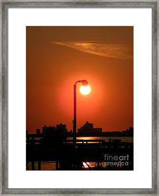 Sun Lamp Framed Print by Laurence Oliver