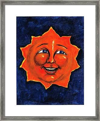 Sun Framed Print by Sarah Farren