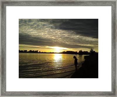 Sun Set Framed Print by Rebecca Frank