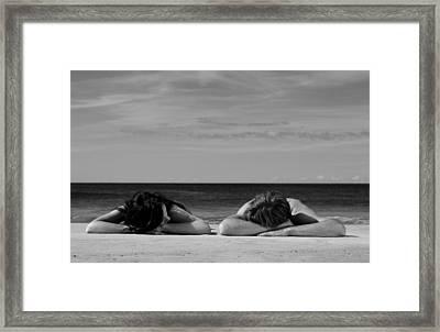 Sunbathers Framed Print by Noel Elliot
