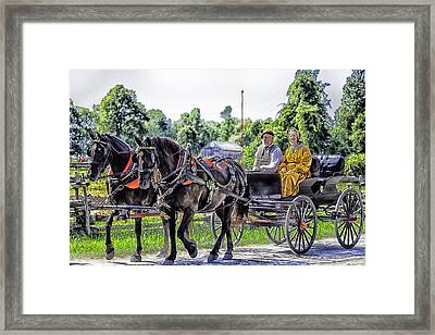 Sunday Buggy Ride Framed Print