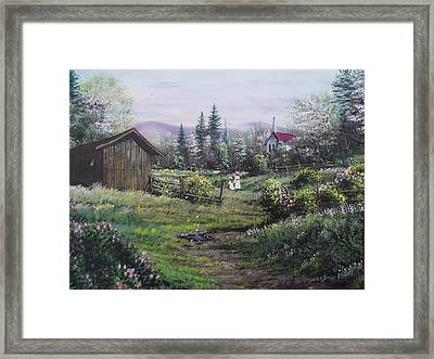 Sunday Morning Shortcut Framed Print
