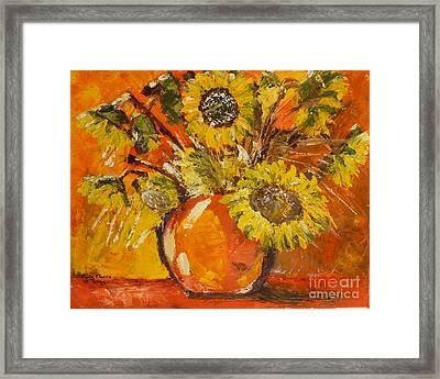 Sunflowers Framed Print by Judy Morris