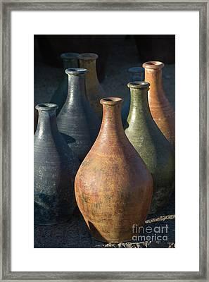 Sunrise And Pottery Framed Print by Sandra Bronstein