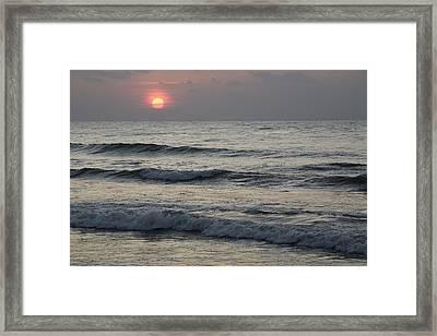 Sunrise Over Arabian Sea Hawf Protected Framed Print by Sebastian Kennerknecht