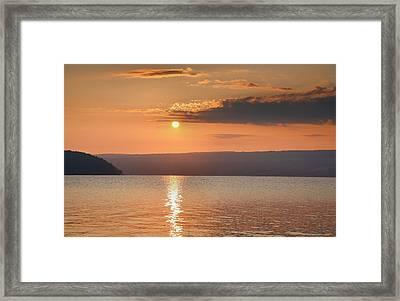 Sunrise Over Keuka II Framed Print by Steven Ainsworth