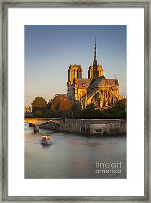 Sunrise Over Notre Dame Framed Print by Brian Jannsen