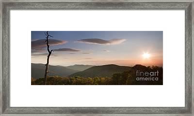 Sunrise Over Shenandoah National Park Framed Print by Dustin K Ryan