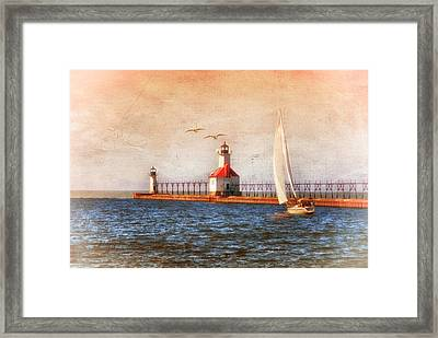 Framed Print featuring the photograph Sunset Aglow by Mary Timman