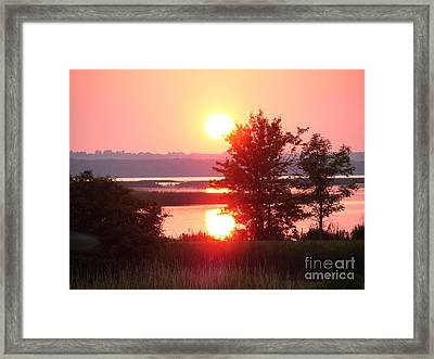 Sunset Ambience Framed Print