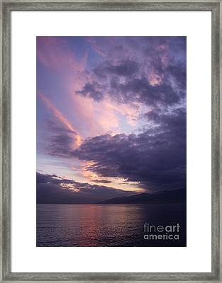 Sunset At Messina Framed Print