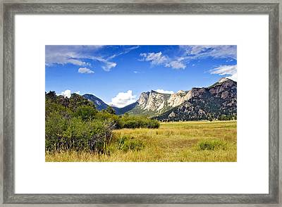 Sunset At Rocky Mountain Park Co. Framed Print