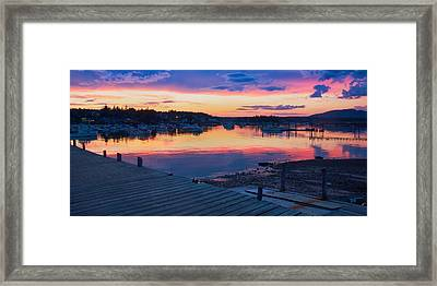 Sunset Bass Harbor Maine Framed Print