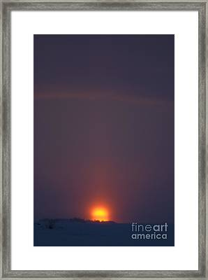Sunset From Dettah Ice Road Framed Print by Yuichi Takasaka