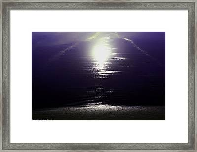 Framed Print featuring the photograph Sunset In Maine by Michael Nowotny