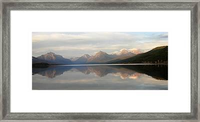 Sunset Lake Mcdonald Framed Print