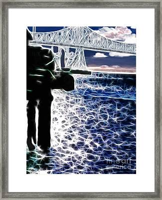Sunset On The Columbia River Framed Print by Methune Hively