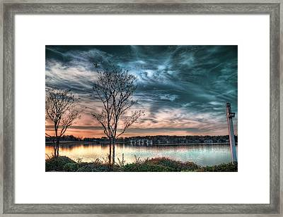 Sunset Over Canebrake Framed Print by Brenda Bryant