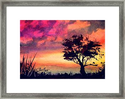 Sunset Solitaire Framed Print