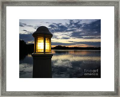 Sunset With Light Framed Print by Jo