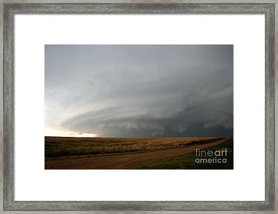 Supercell Thunderstorm Framed Print by Science Source