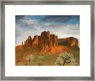 Superstition Mountains Framed Print