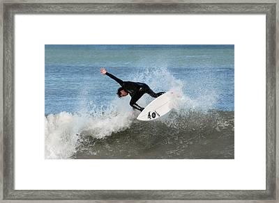 Surfing 395 Framed Print by Joyce StJames