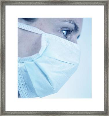Surgical Mask Framed Print by Cristina Pedrazzini