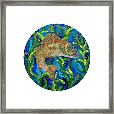 Surprised Walleye Framed Print by Marion Bradish