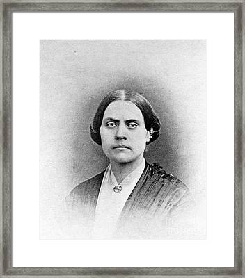 Susan B. Anthony, American Civil Rights Framed Print