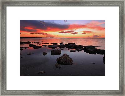 Swan Bay Sunset Framed Print by Paul Svensen