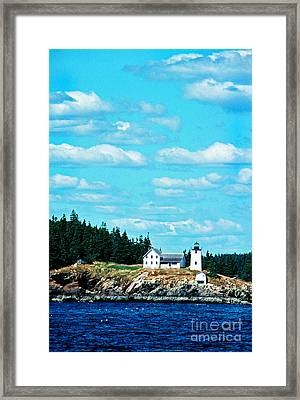 Swans Island Lighthouse Framed Print