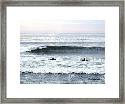 Swimming  Framed Print by Mily Iriarte