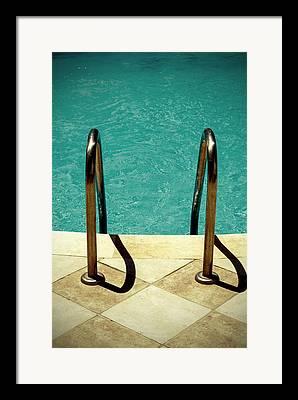 Swim Ladder Framed Prints