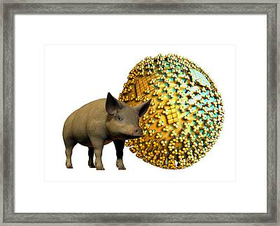 Swine Flu, Conceptual Image Framed Print by Victor Habbick Visions