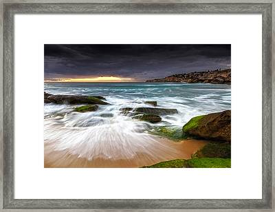 Swirls On The Rock Framed Print by Mark Lucey