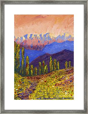 Swiss Alps Impasto Framed Print by Edward McNaught-Davis