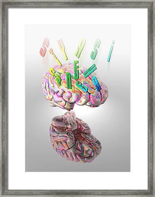 Synaesthesia, Conceptual Artwork Framed Print