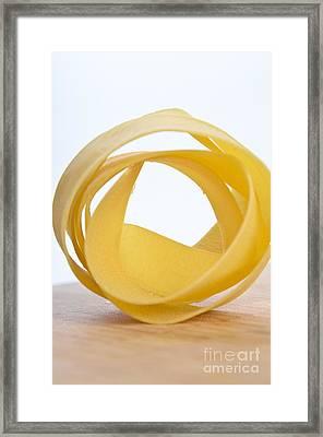 Tagliatelle Pasta Framed Print by Photo Researchers, Inc.