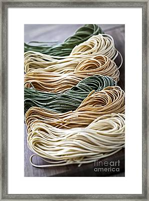 Tagliolini Pasta Framed Print by Elena Elisseeva