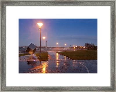 Tallinn Coastline And Stormy Seas Framed Print