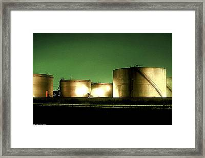 Framed Print featuring the photograph Tanks by Michael Nowotny