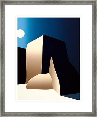 Taos Moon Framed Print by Ed Wyatt