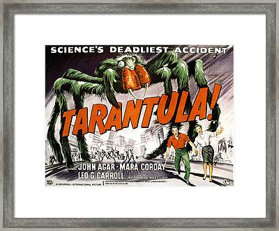 Tarantula, Bottom From Left John Agar Framed Print