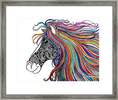 Tattooed Horse Framed Print by Nick Gustafson