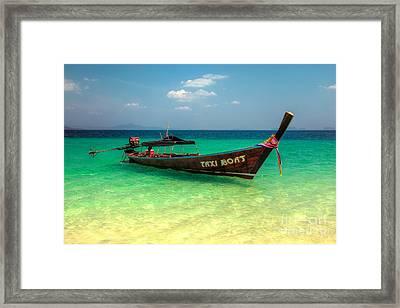 Taxi Boat Framed Print