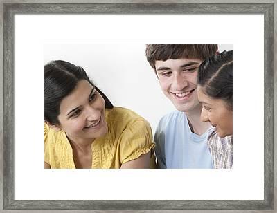 Teacher Helping Pupils Framed Print by