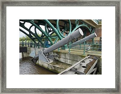 Tees Barrage Framed Print by Adrian Bicker