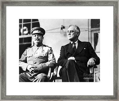 Tehran Conference, 1943 Framed Print